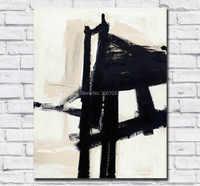 Grande taille peinture à l'huile Franz kline lumière mécanicien mur Art toile peintures photos pour salon et chambre pas de cadres
