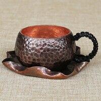 Handmade vintage pure copper coffee cup tea water wine cup teacup dinkware coffeeware mug