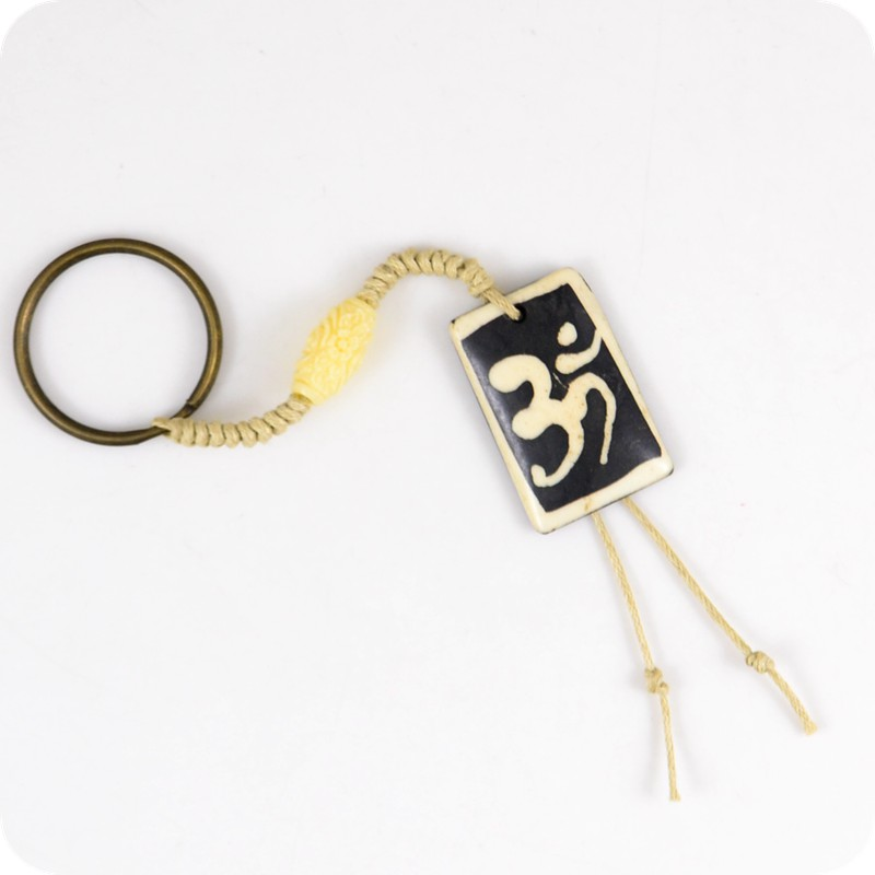 Real Cattle Bone Tibet Aum Om Ohm Hindu Buddhist Hinduism Yoga India Carving Pendant Key Chains Amulet Lucky Gift Tribal Buy At The Price Of 0 99 In Aliexpress Com Imall Com