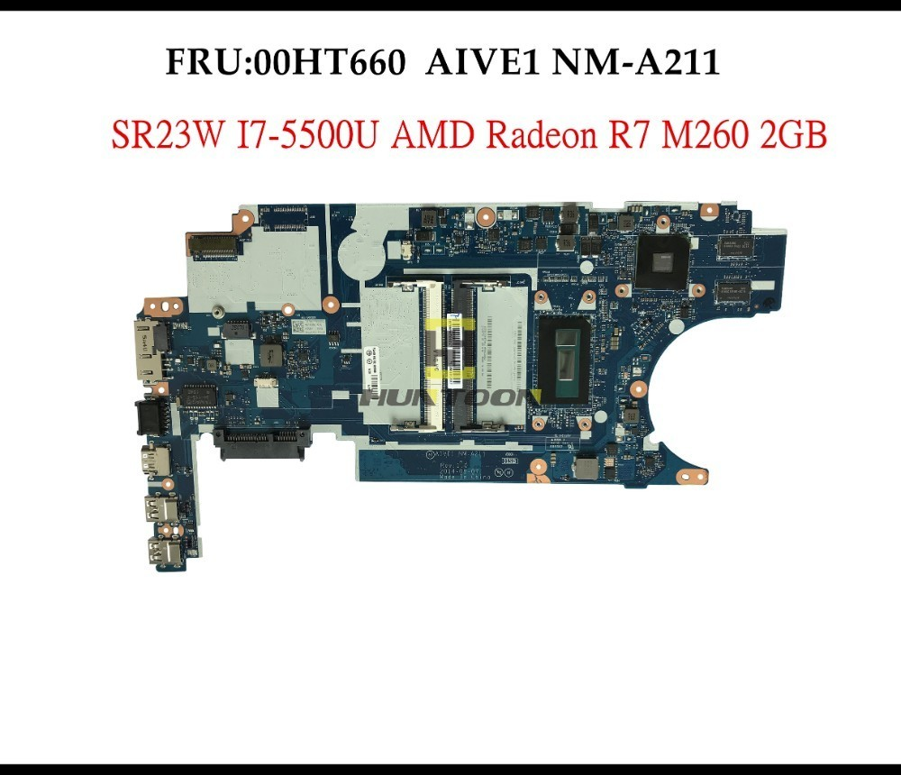 US $175 2 20% OFF|Wholesale AIVE1 NM A211 for Lenovo Thinkpad E450 Laptop  Motherboard 00HT660 SR23W I7 5500U AMD Radeon R7 M260 2GB Fully Tested-in