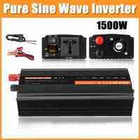 Inverseur à onde sinusoïdale Pure 1500W DC12V/24 V/48 V à AC220V 50HZ Booster de convertisseur de puissance pour le bricolage de ménage d'inverseur de voiture