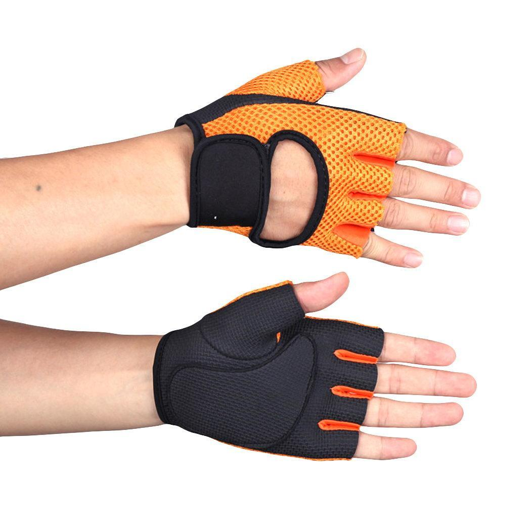 Rose Half Tape Soft With Sport Blue Fastening Black Unisex Orange Red Cycling Gloves Cycling Finger Casual Outdoor