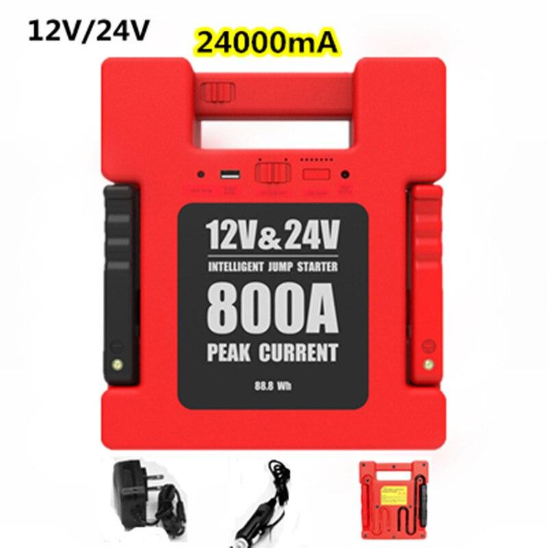 24000mA 12 V/24 V LED USB Car Ir Para Iniciantes Portátil Backup Power Bank Carregador de Emergência Ir Para Iniciantes Para O ônibus carro Caminhão SUV Boat