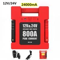 24000mA 12V/24V LED USB Auto Starthilfe Tragbare Power Bank Backup Ladegerät Notfall Starthilfe Für auto Lkw SUV Boot Bus