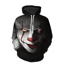 new clown soul return series hoodies men streetwear coat 3D printing sudaderas para hombre Casual jacket Wholesale and retail