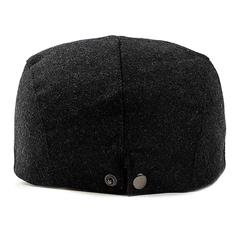 ... British Style Brand New Hot Fashion Gentleman s Casual Hat Autumn And  Winter Fashionable Mens Woolen Beret ... e8cfaa021c3
