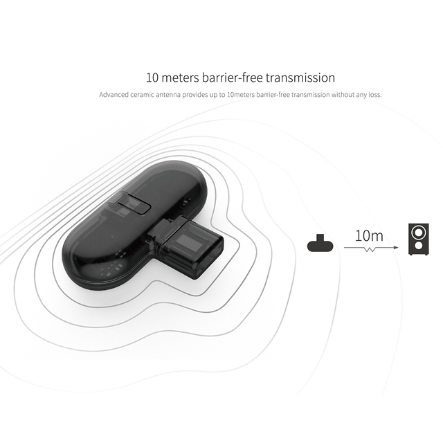 Gulikit GB1 ROUTE BT Transmitter Mini USB Wireless Audio Adapter Transceiver Gaming Headset For Game Console PC Type-C Adapter