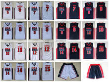 c4151ca96f24 Mens 1992 USA Dream Team Robinson Ewing Bird Pippen Jordan Drexler Malone  Stockton Mullin Barkley Johnson Stitched Jersey Shorts