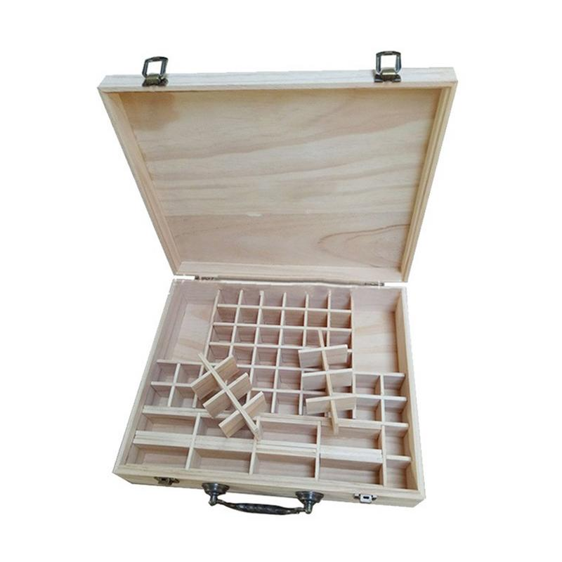 L'huile essentielle de pin boîte de stockage bois 70 Compartiments En Bois huiles essentielles de stockage cas de stockage organisateur boîtes accessoires # SO