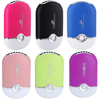 Mini Palm Small Fans Usb Charge Nothing Leaf Grafting False Eyelash Fans Usb Rechargeable Fan Home office Bladeless Fan portable
