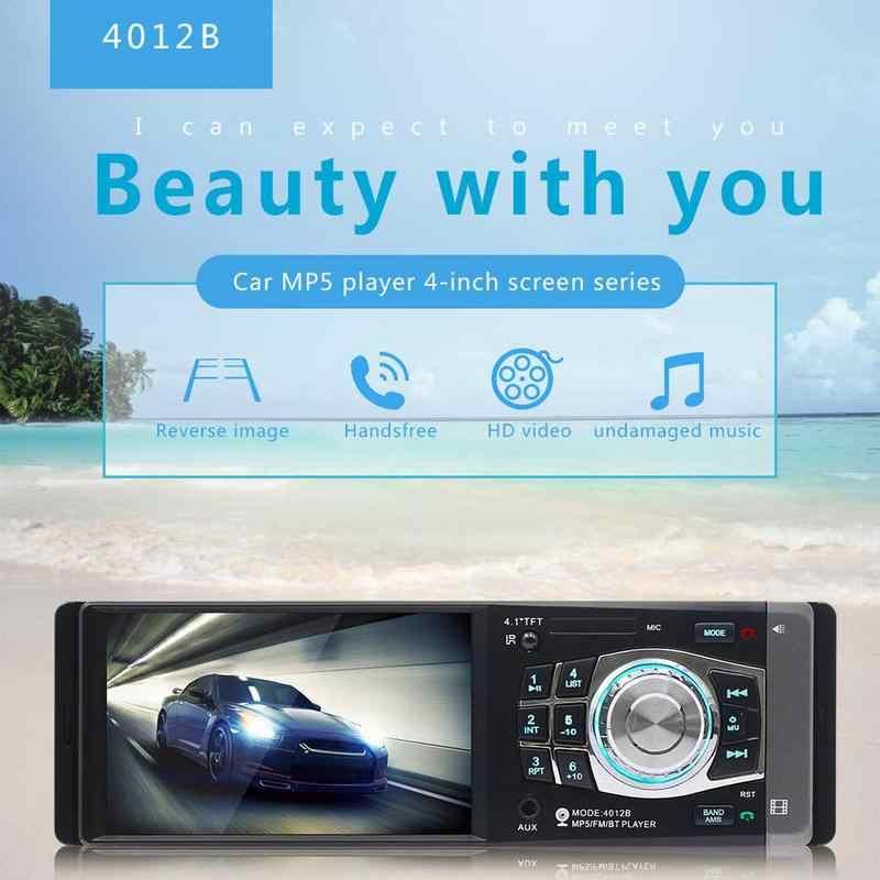 4,1 дюймов 1 Дин MP5 плеер Bluetooth FM передатчик Радио Стерео головное устройство с Дистанционное управление может быть подключен к камера