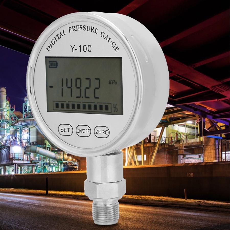 Digital Pressure Gauge Y100 High Precision Digital Hydraulic Pressure Gauge Manometer Pressure Tester Meter Vacuometro Digital