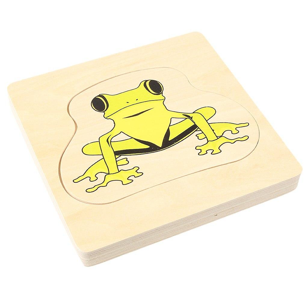 Montessori matériel en bois grenouille et papillon croissance Puzzle Parent-enfant Communication jeu de formation pour enfants enfants - 6