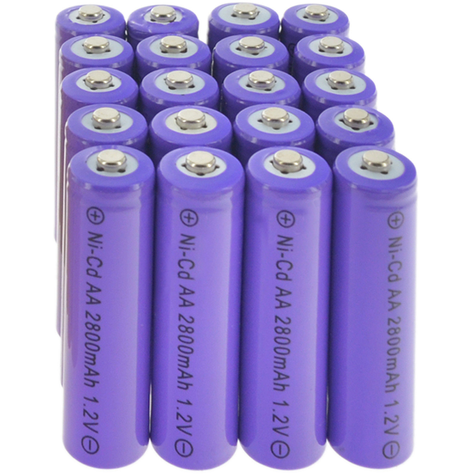 2-24 Lot AA Ni-Cd Rechargeable Battery NiCd 2800mAh 1.2v Garden Solar Light Purple Batteries Cells For Toys