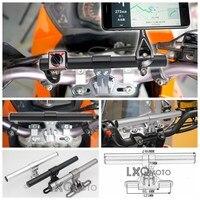 LXQ Motorcycle CNC Aluminum Handleba Bike GPS Mount Holder Bracket For KAWASAKI NINJA ZRX1200 Z1000SX W800 Z900RS ER 6N ER 6F