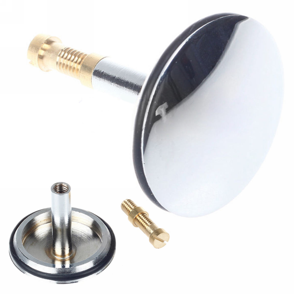 US $5.0 30% OFF|1pc Chrome Stainless Bathroom Sink Plug Adjustable Replacement Bath Basin Kitchen Sink Up Plugs|Drains| |  - AliExpress