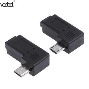 Image 5 - 2 teile/los 90 Grad USB Links & Rechts Abgewinkelt Micro 5pin Weiblichen zu Micro USB Männlichen Daten Adapter Zu Mini USB Stecker Stecker Micro USB