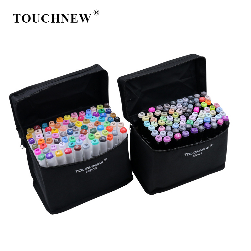 TOUCHNEW 80 Color Markers Pen Set Sketch Alcohol Based Markers Dual Head Markers For Drawing Art Supplies PensTOUCHNEW 80 Color Markers Pen Set Sketch Alcohol Based Markers Dual Head Markers For Drawing Art Supplies Pens