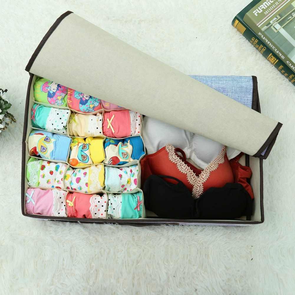 Модный новый складной хлопковый шкаф, органайзер для хранения коробка ящик для галстуков шарфы носки контейнер для нижнего белья шарф Носки Органайзер