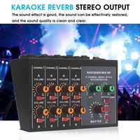 KINCO 100~220V Professional Mini Mixer 8 Channel Live Studio Audio KTV Karaoke Mixer Mixing Console 48V for Family KTV