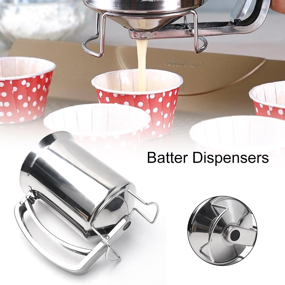 Stainless Steel Batter Pancake Ball Dispenser Cake Cupcake Dough Dispenser Funnel Household Takoyaki Machine Octopus Balls Maker