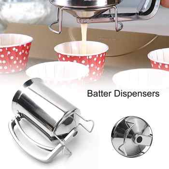 Stainless Steel Batter Pancake Ball Dispenser Cake Cupcake Dough Dispenser Funnel Household Takoyaki Machine Octopus Balls Maker - DISCOUNT ITEM  37% OFF All Category