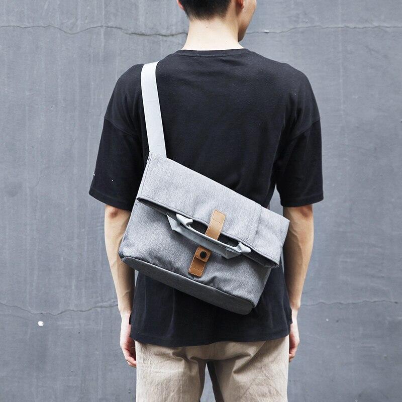 Portable Waterproof Shoulder Bag fit for 13 inch Laptop and Tablets Fashion Business Men Handbags Crossbody Bag Messenger Bag messenger bag