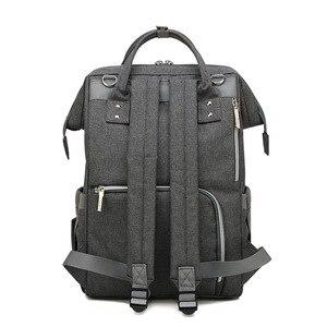 Image 5 - Модная сумка для подгузников для мам, большая сумка для кормления, дорожный рюкзак, дизайнерская сумка для детской коляски, рюкзак для подгузников для ухода за ребенком