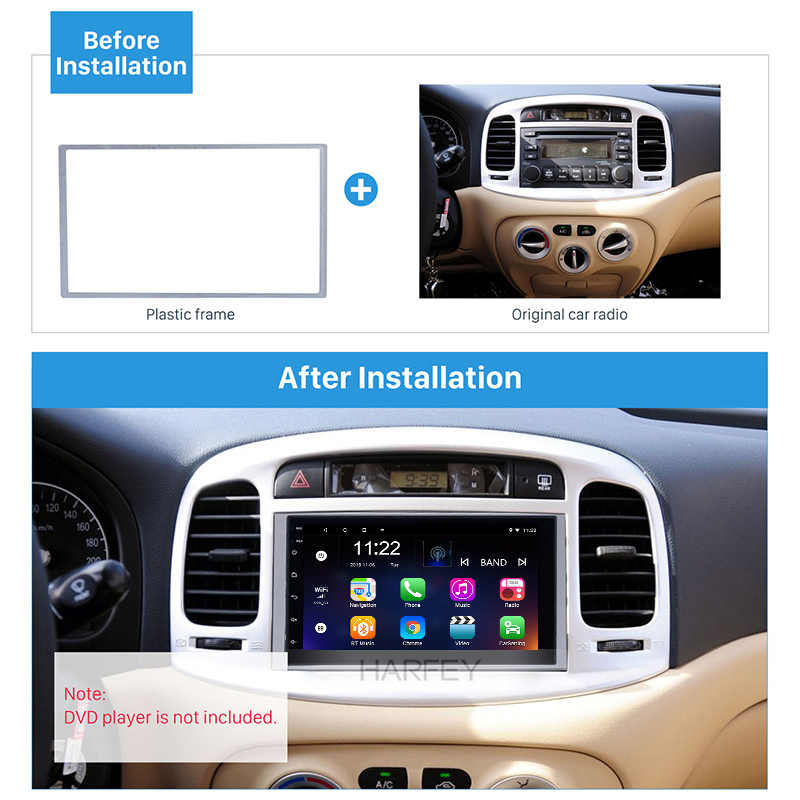 Harfey Universal 2Din samochodowe stereo Autoradio konsola zestaw paneli wykończeniowych Dash płyta dla HONDA FIT Jazz Dash Sorrounded Panel 178*102mm