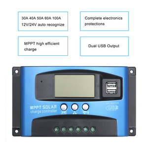 Image 5 - 30/40/50/60/100A MPPT Solar Charge Controller Dual USB LCD Display Auto 12/24V Solar Cell Panel Charger Controller Regulator