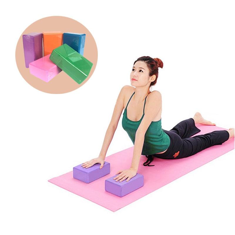 Новый блок йоги eva Brick Body Shaping Health Training Fitness BrickSports упражнение для тренажерного зала пена роликовая тренировка Растяжка помощь 2019