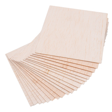 20pcs/set Square Balsa Wood Sheets Wooden Plate Model 10cm*10cm*1mm for DIY Aircraft House Ship Military Hobby Models