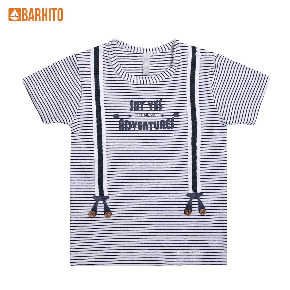 T-Shirts Barkito 338994 children clothing Cotton 31A-30512KOR Blue Boys Casual t shirts barkito 339006 children clothing cotton 32a 30475kor yellow boys casual
