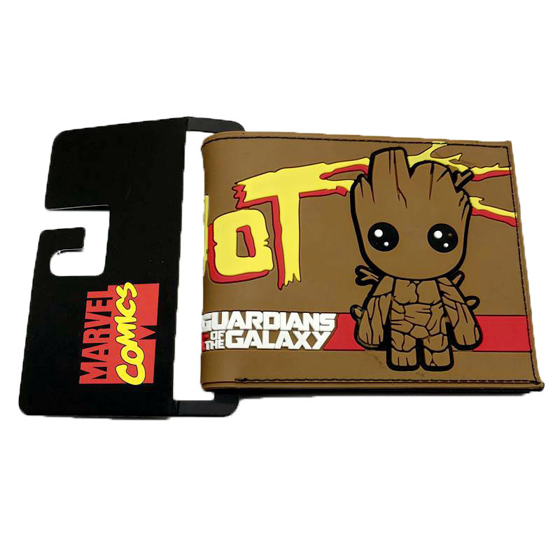 Bifold Wallet Movies Guardians-Of-The-Galaxy Boys Purse Phone-Card-Holder Coins Gift