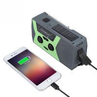 Outdoor Solar Hand Crank Generator Radio Portable Emergency Charging Radios Support led dynamo flashlight AM/FM NOAA Mini Radio
