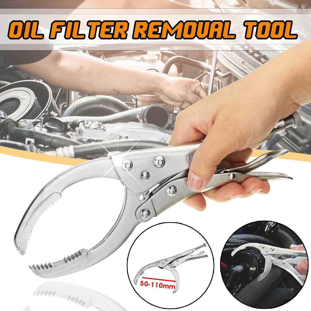Car Oil Filter Plier Remover Wrench Vice Locking Grip Vise Spanner Removal Tool Auto Repair Hand ToolsCar Oil Filter Plier Remover Wrench Vice Locking Grip Vise Spanner Removal Tool Auto Repair Hand Tools