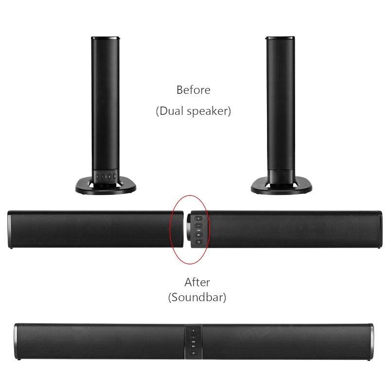 Home cinéma 20W Bluetooth barre de son Tv Aux optique Bluetooth barre de son haut-parleurs colonne barre de son avec haut-parleur Subwoofer pour Tv - 4