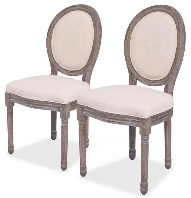 High Quality Dining Furniture: VidaXL 2 Pcs High Quality Dining Room Chairs Home