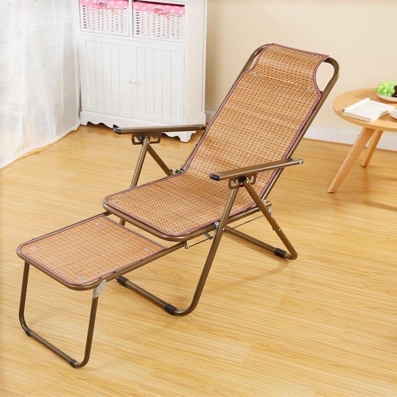Бамбуковый Коврик шезлонг стул для пожилых беременных женщин обеденный перерыв стул Щелкунчик Прохладный стул - 4