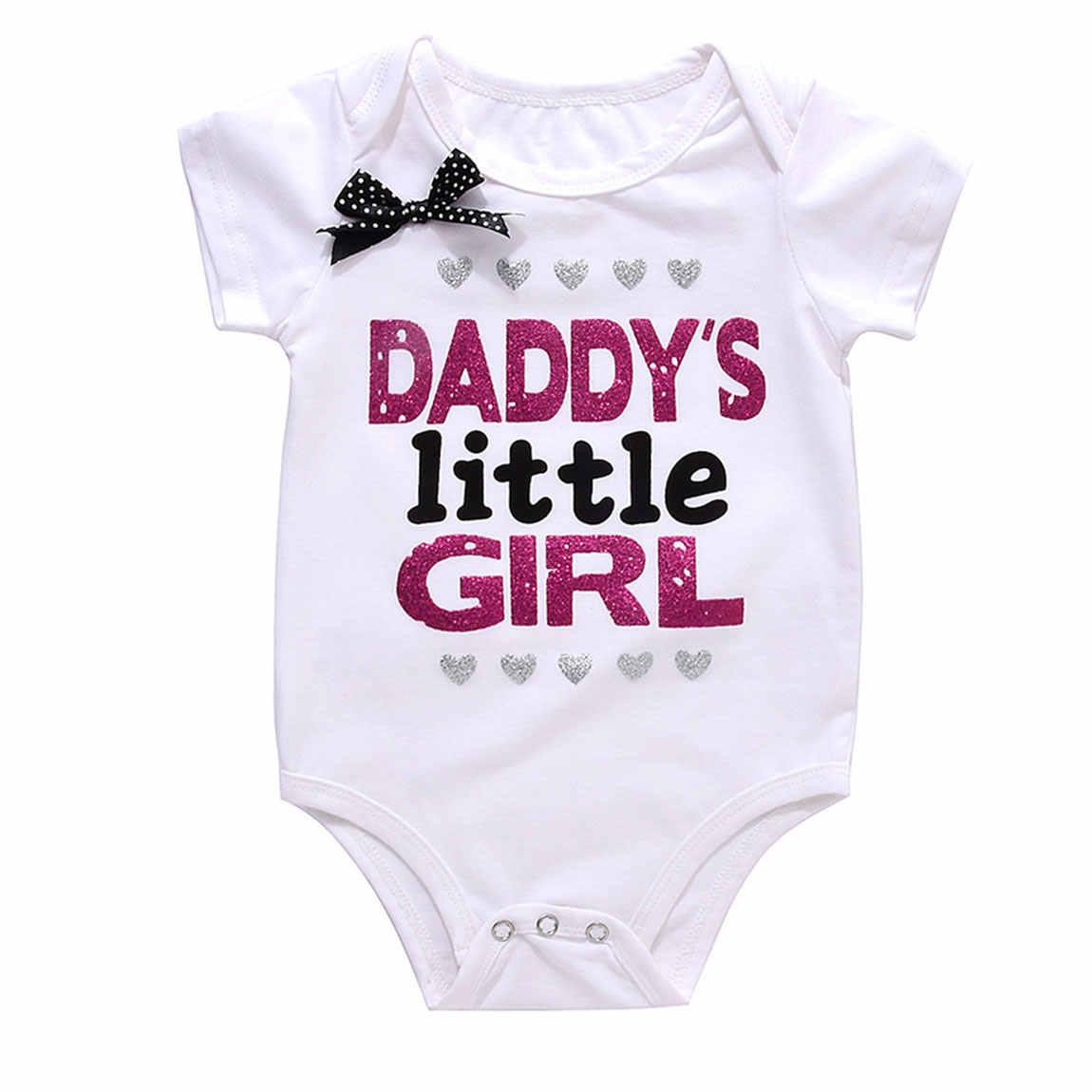 Одежда для младенцев белого и черного цвета от Carter's, детский костюмчик, пап и маленькая девочка одежда с принтом Mommy'S принцессы боди с буквенным принтом