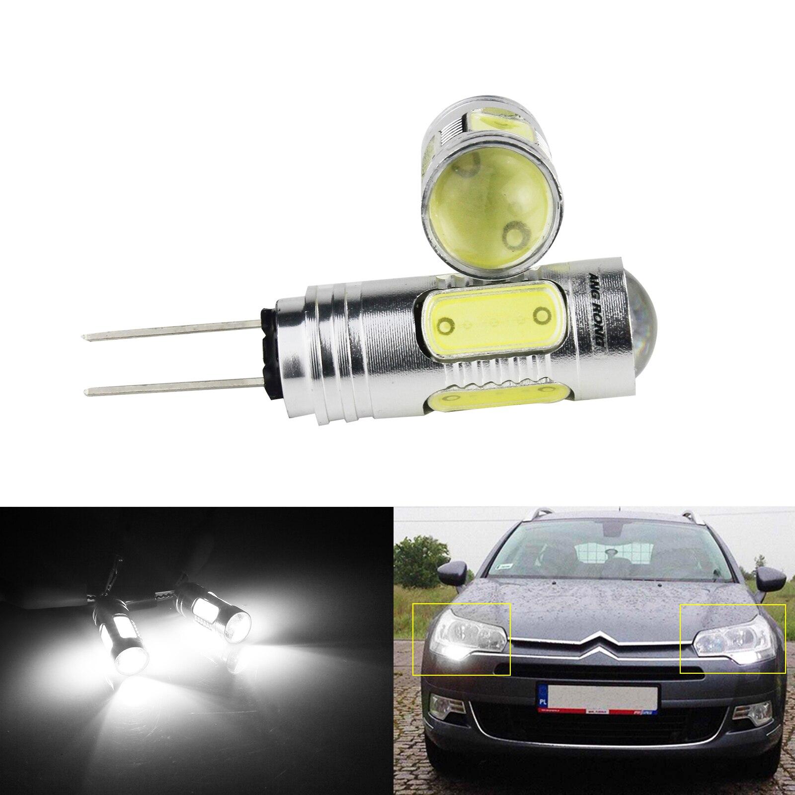 ANGRONG 2x Белая светодиодная лампа HP24W HPY24W G4 COB, босветильник световой индикатор, дневные ходовые огни, лампы для Peugeot 3008 5008 лимонный