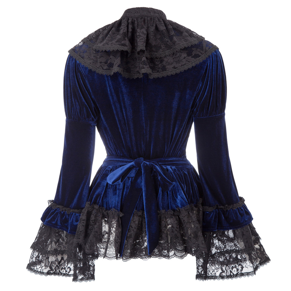 8cf5a44b9b Retro Gothic Victorian 2pcs Set Velvet Corset Top +Lace Cape Steampunk  Theater-in Basic Jackets from Women s Clothing on Aliexpress.com