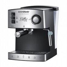 Кофеварка Endever Costa-1060 (Мощность 850 Вт, емкость 1,6 л, давление 15 бар, насадка для пены, платформа для подогрева чашек, фильтр из нержавеющей стали)