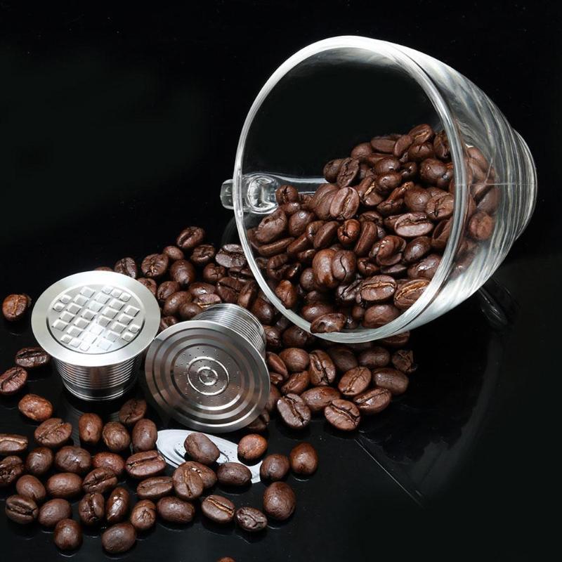 ICafilas для многоразового использования кофе фильтр из нержавеющей стали кофе квадратное отверстие оболочки капсулы Nespresso фильтр для кофе