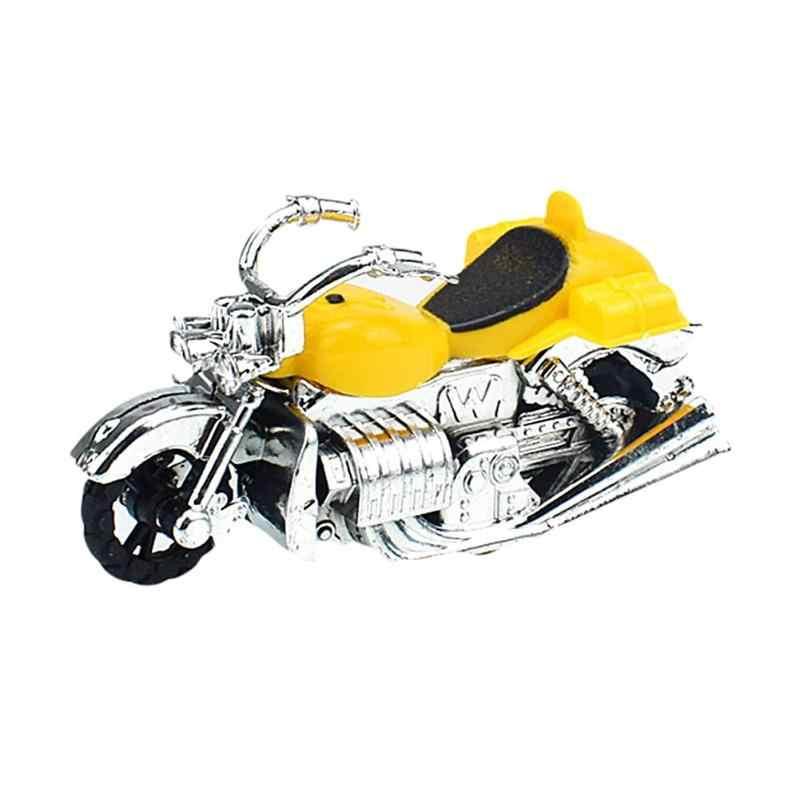 Sepeda Motor Anak-anak Tarik Kembali Model Mobil Mainan untuk Anak Laki-laki Anak Sepeda Motor Plastik Mainan Pendidikan Anak-anak Bermain Natal Hadiah Acak Warna