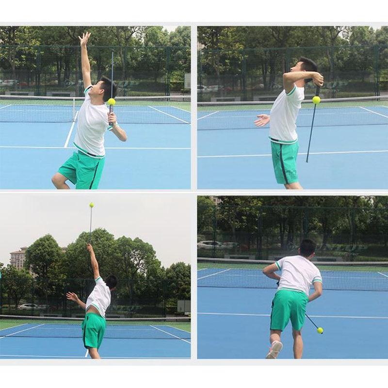 Yoofa Allenatore di Tennis,Strumento di Allenamento per Tennis Portatile,Tennis Allenamento ad Alta Elasticit/à Palla Allenamento,Adatto per Principianti