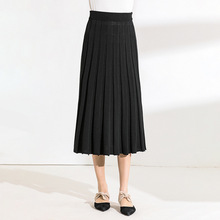 Knitted skirts mujer 2019 spring and summer new pleated high quality big swing womens 1955