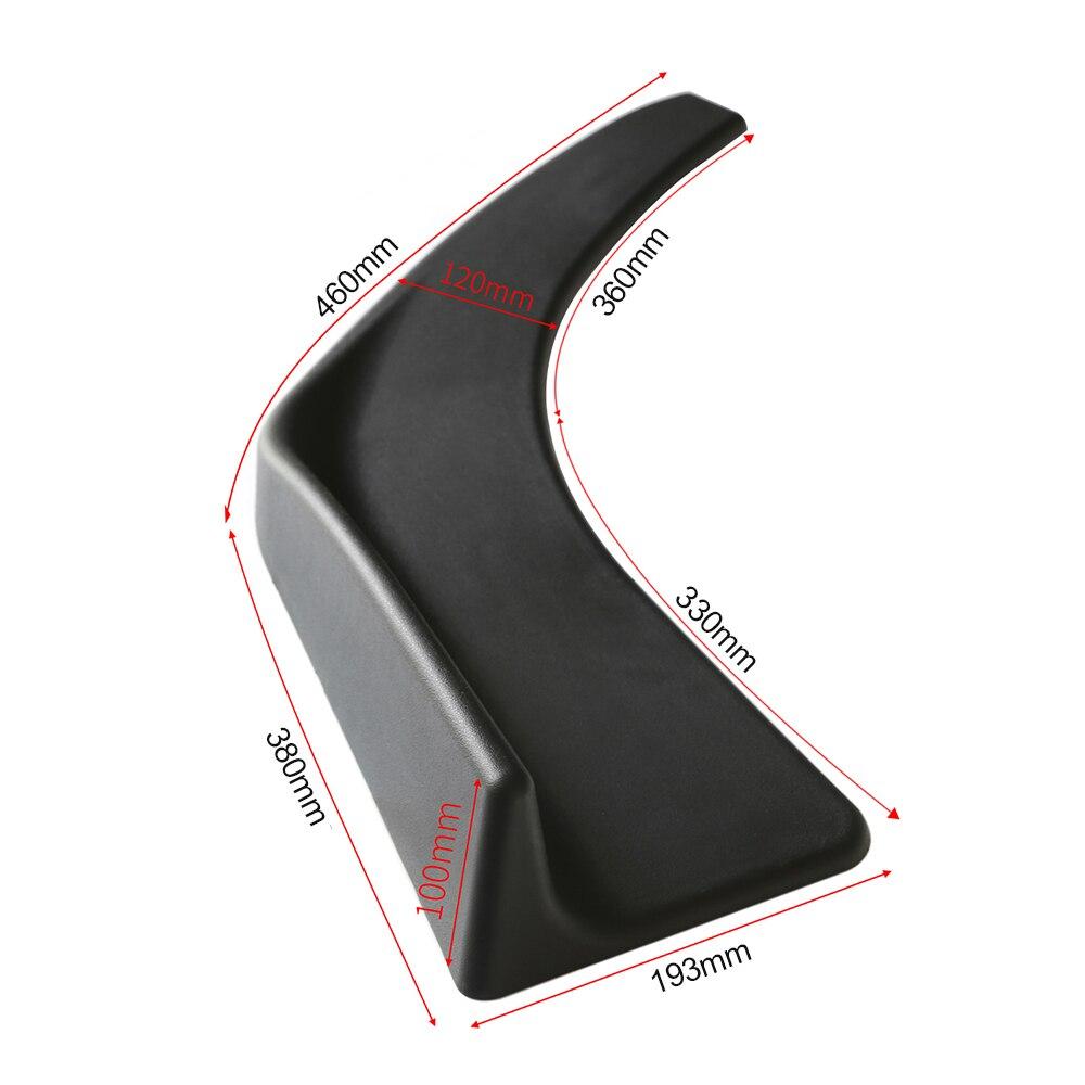 KKMOON Universal Car Front Body Shovel Deflector Spoiler Lip Splitter  Diffuser Bumper Canard Body Shovels ABS 2Pcs