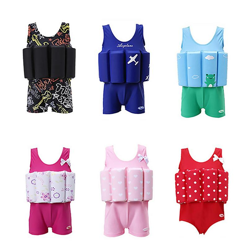 Children Buoyancy Swimsuit Safety Foam Guard One Piece Swimming Suit Kid Learning To Swim Life Cloth Water Sport Supplies Unisex
