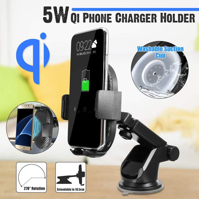 LEORY QI Wireless Charger Gravity Mobile Phone Holder Suction Universal for Samsung